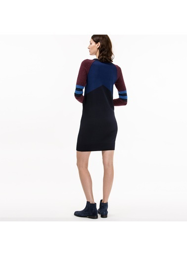 Lacoste Kadın Slim Fit Elbise EF7636.RRC Lacivert